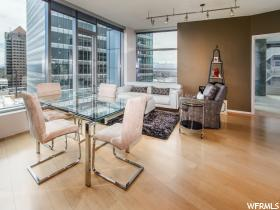 Home for sale at 35 E 100 South #1107, Salt Lake City, UT  84111. Listed at 598500 with 1 bedrooms, 2 bathrooms and 1,410 total square feet