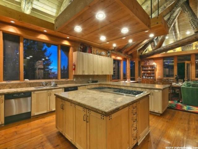 Kitchen in Huntsman's Park City Home