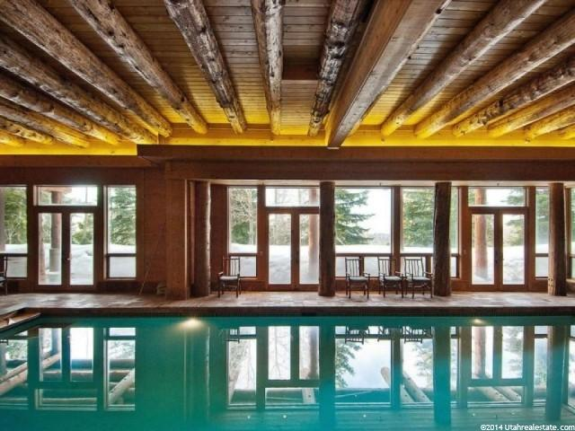 Indoor Pool in Huntsman's Park City Home