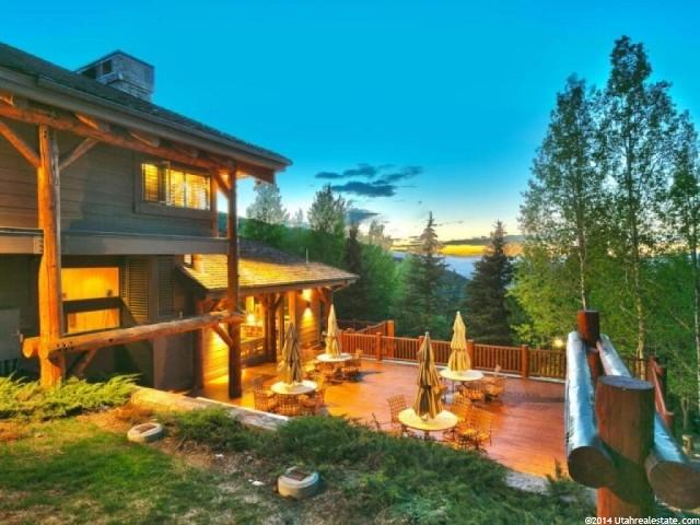 Outdoor Living Area in Huntsman's Park City Home