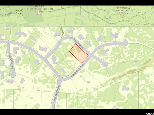 Land for Sale at 1593 E BOX ELDER Drive 1593 E BOX ELDER Drive Alpine, Utah 84004 United States