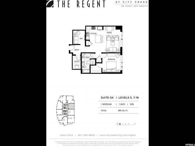 35 E 100 Unit 1504 Salt Lake City, UT 84111 - MLS #: 1387110