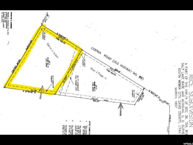 Land for Sale at 7482 S CORNIA Drive South Weber, Utah 84405 United States