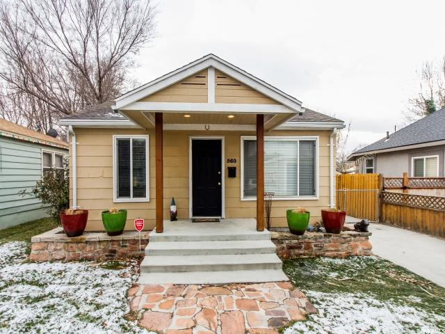 Home for sale at 560 E Stringham Ave, Salt Lake City, UT  84106. Listed at 244900 with 3 bedrooms, 2 bathrooms and 1,106 total square feet