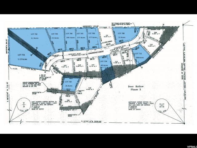 Terrain pour l Vente à 680 E OAKRIDGE Drive Tooele, Utah 84074 États-Unis