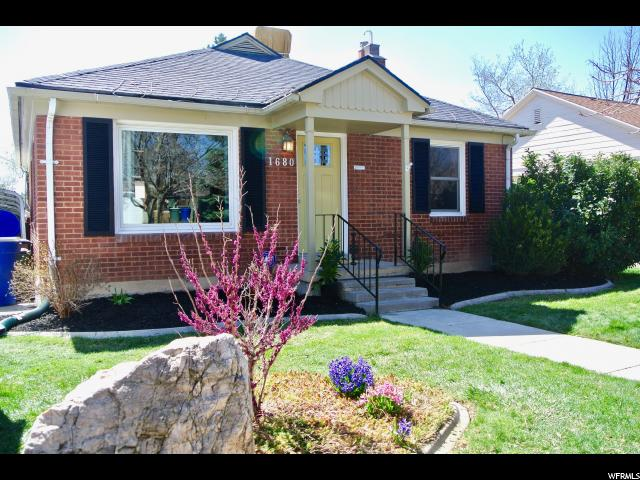 Home for sale at 1680 E Downington, Salt Lake City, UT  84105. Listed at 459900 with 4 bedrooms, 2 bathrooms and 1,856 total square feet