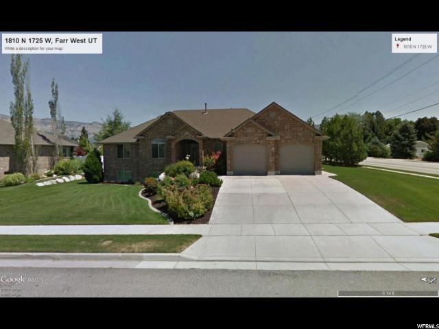 单亲家庭 为 销售 在 1810 N 1725 W Farr West, 犹他州 84404 美国