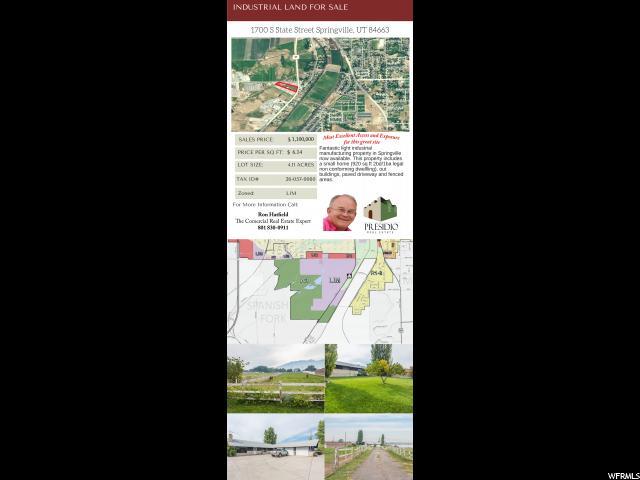 1700 S STATE ST Springville, UT 84663 - MLS #: 1453025