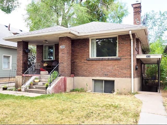 Home for sale at 2416 S 800 East, Salt Lake City, UT 84108. Listed at 259900 with 4 bedrooms, 2 bathrooms and 1,650 total square feet