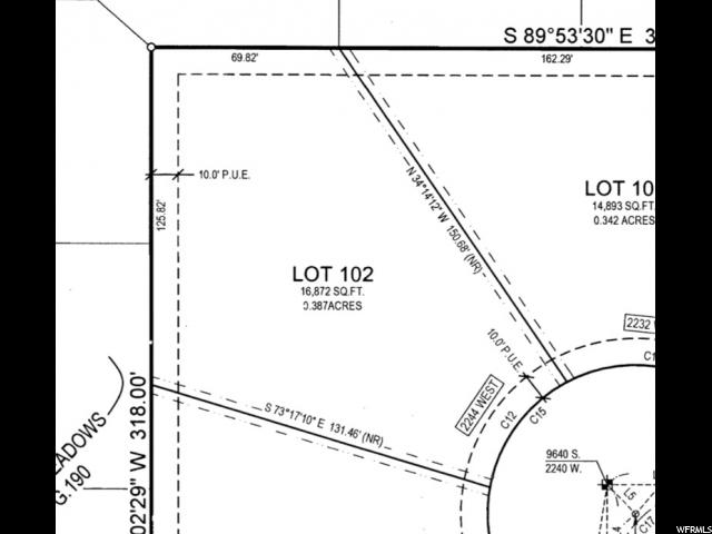 Land for Sale at 2244 W SPRATLING ELM Court 2244 W SPRATLING ELM Court South Jordan, Utah 84095 United States