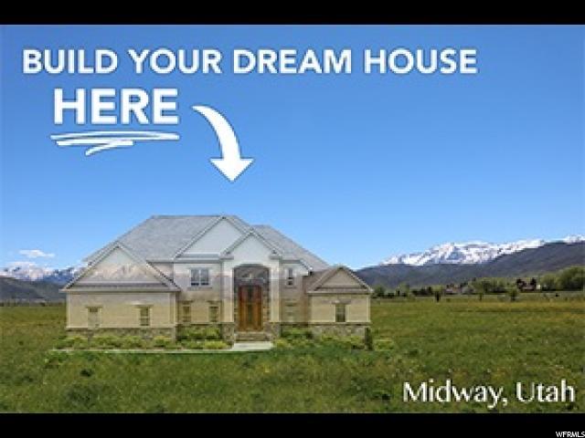 Terrain pour l Vente à 486 S 300 E 486 S 300 E Midway, Utah 84049 États-Unis