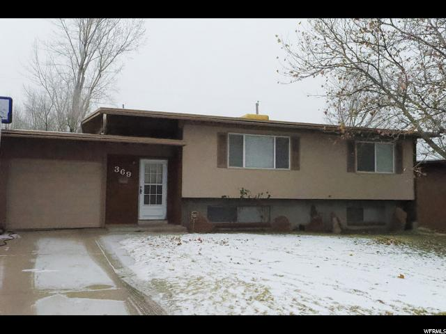 Single Family for Sale at 369 W 825 N 369 W 825 N Sunset, Utah 84015 United States