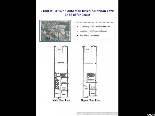 1 767 AUTO MALL DR. Unit 1 American Fork, UT 84003 - MLS #: 1497380