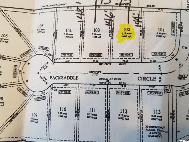 Land for Sale at 1680 W PACKSADDLE Circle 1680 W PACKSADDLE Circle Bluffdale, Utah 84065 United States