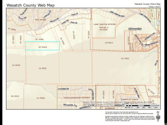 Land for Sale at 75429 LOT 3 75429 LOT 3 Midway, Utah 84049 United States