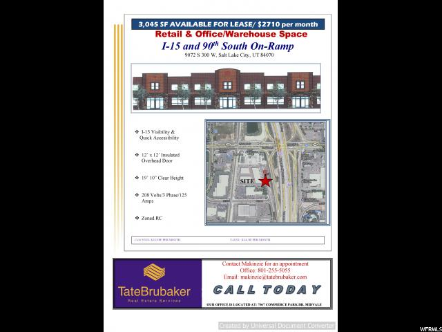 Commercial for Rent at 27-01-330-006, 1 9072 S 300 W 1 9072 S 300 W Sandy, Utah 84070 United States
