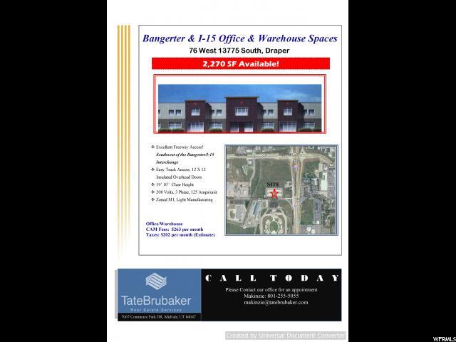 1 112 W 13775 S UNIT #4 Draper, UT 84020 - MLS #: 1502536