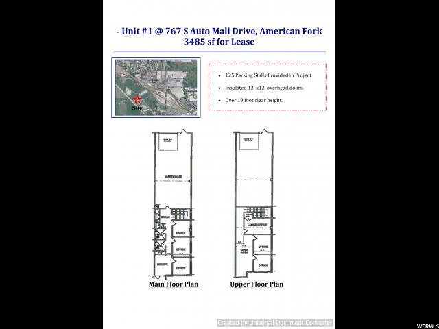 1 767 S AUTO MALL DR. UNIT #1&2 American Fork, UT 84003 - MLS #: 1540623