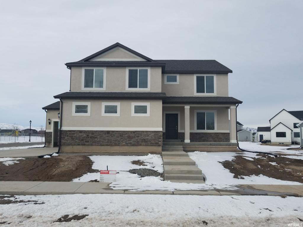 LEGACY FARMS NEIGHBORHOOD!!! Beautiful 2-story home with 4 bedrooms, a loft, 2.5 baths, & an unfinished basement. Close to the neighborhood elementary school, Pioneer Crossing & I-15. Pictures are of a similar home. Ask about our $4,000 Affiliated Lender Incentive.