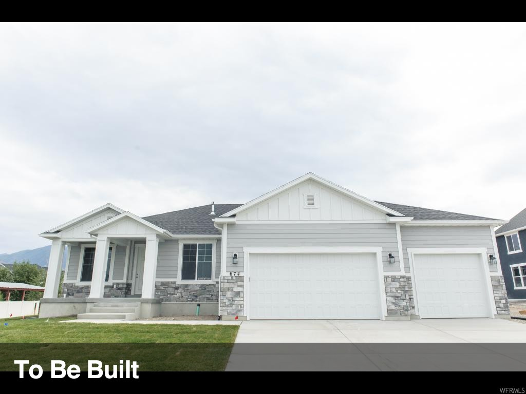Utah County's fastest-growing home builder! Our Washington floor plan features the best in standard options, like master and great room vaulted ceilings, a 95% efficiency furnace, two-tone paint, solid knotty alder cabinets with staggered uppers and crown in the kitchen, wood closet shelving, and unlimited options to make your home uniquely yours. Choose this floor plan or any of our other incredible floor plans. Let our award-winning design team help you arrive at your forever home today! -Seller to Provide Level 1 Craftsman Hybrid Exterior & Lap Siding on the side of the home