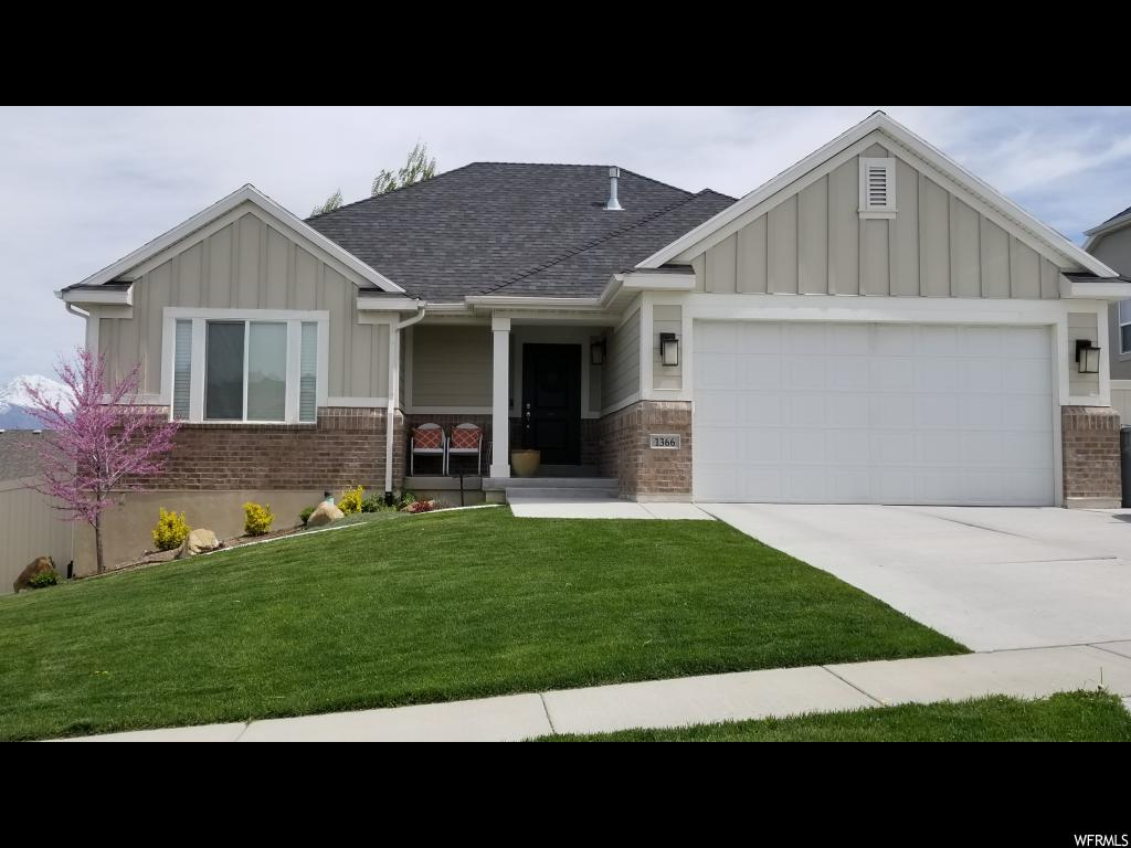Check out this beautiful home located in the Saratoga Hills subdivision. The upstairs has high vaulted ceilings with plenty of space to decorate and make it your own. The basement was finished just last year and has a ton of extra storage space and includes wired in surround sound in the family room.  Buyer to verify all information.
