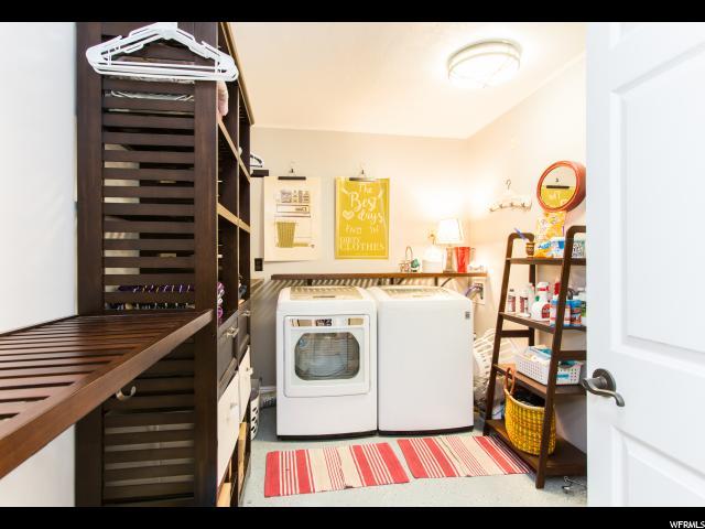 Huge laundry room in basement