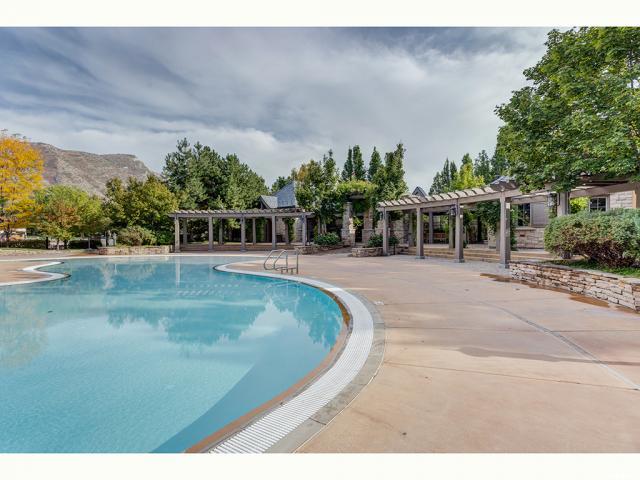 Cabanas surrounding pool