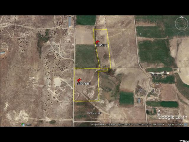Located NE of Moroni.  Beautiful 12.6 acre Parcel. Prime Residential building lot/Estate for small Farm or Ranch. Limited access. 2 tax ID #'s comprise the acreage count.