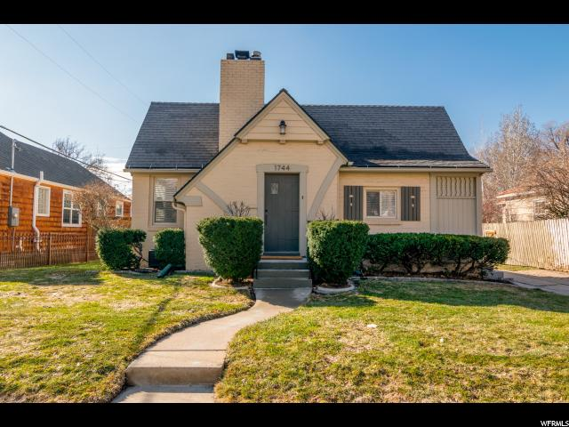 Home for sale at 1744 E 1300 South, Salt Lake City, UT  84108. Listed at 524900 with 3 bedrooms, 2 bathrooms and 1,878 total square feet