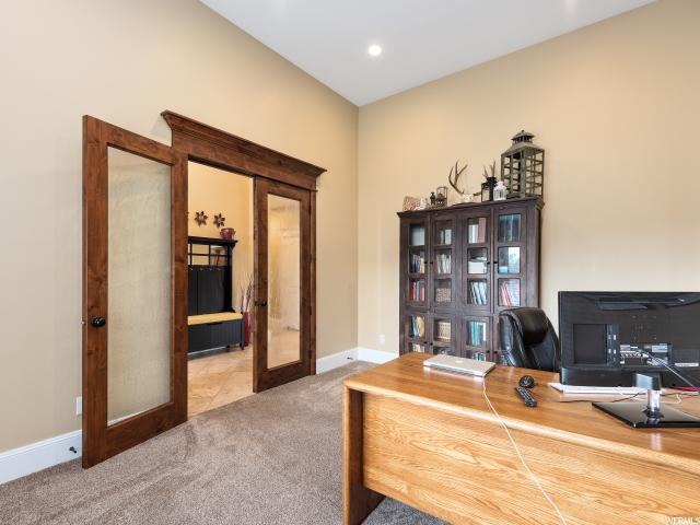 Beautiful French Doors in Office