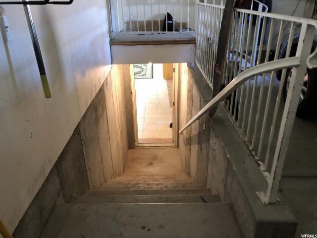 : Basement entrance though the garage.