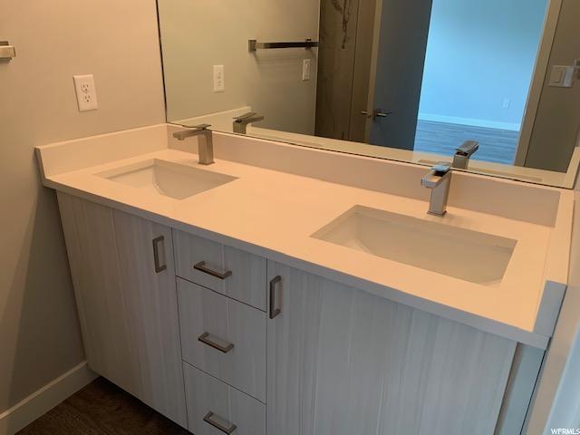 Master bathroom: double vanity
