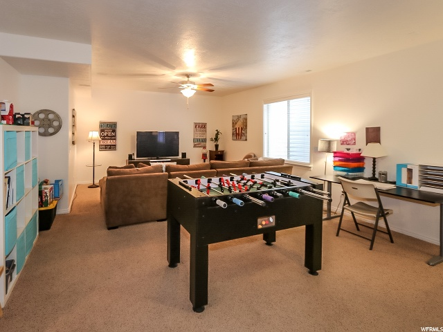 Very Large basement family room