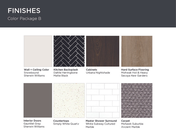 Finishes - Interior Materials: Custom curated, high end finishes.