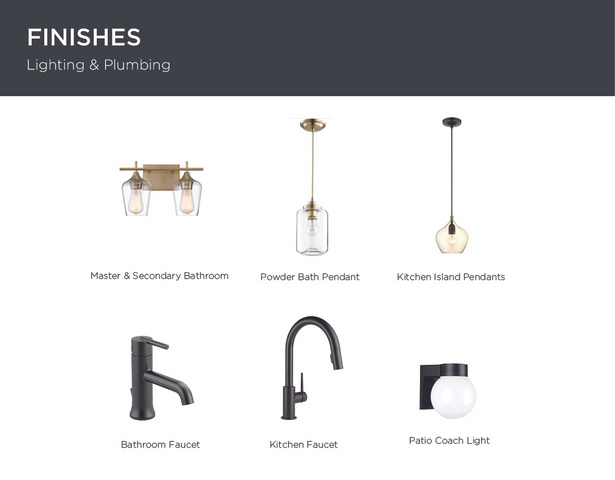 Finishes - Lighting & Plumbing: Custom curated, high end finishes.