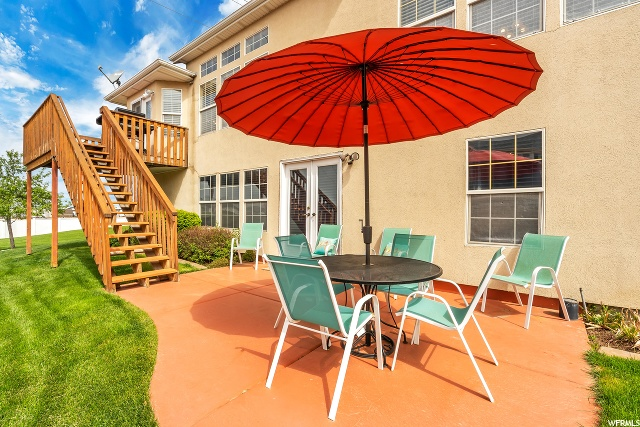Deck and walk-out Patio
