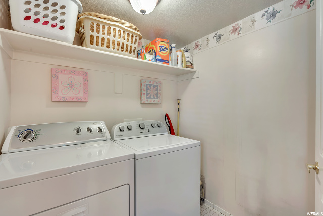 Laundry Room located across from 1/2 bath on Main Level