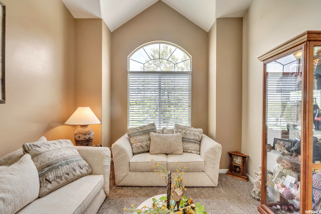 Formal Living Room with Cathedral Ceilings: Newly painted