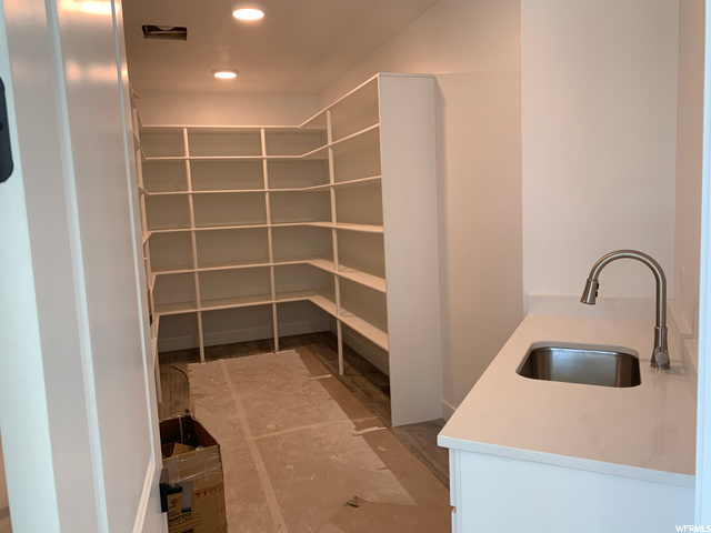 : Butler style large pantry off kitchen.