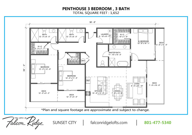 Penthouse  503 1652 Sf Dimensions