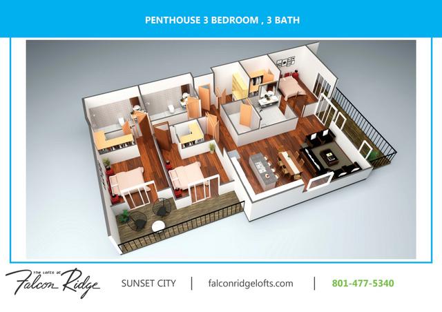 Penthouse  503 1652 Sf 3d