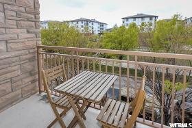 Portion of balcony