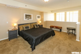 Master Bedroom: Half wall, open to two levels