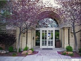 Main Entry: 5 S 500 West: Number 5 is behind the tree on S side of entry doors.