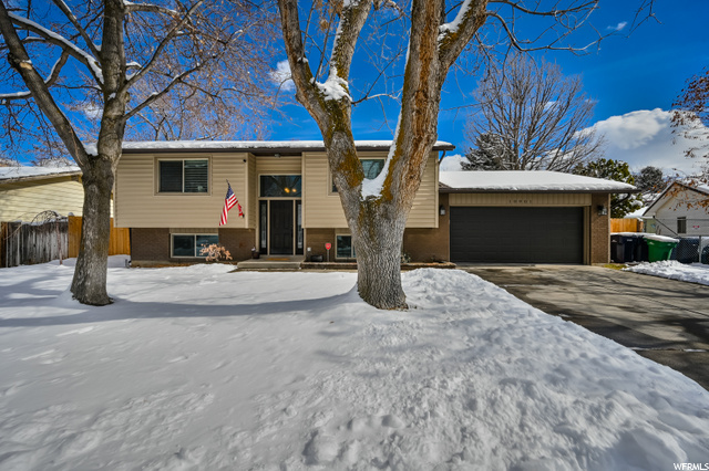 ** MULTIPLE OFFERS RECEIVED. NO MORE SHOWINGS** SELLER IS SELECTING OFFER TODAY FEBRUARY 23, 2021** Must see this well cared for and move-in ready Sandy home, same owner past 23+ years. Open and bright living area on upper level with updated kitchen featuring stainless steel appliances, solid surface countertops, recessed lighting, tall cabinets with crown molding and tile backsplash. Hardwood floors throughout living area and updated bathrooms. Den area in basement is ideal for home office. Sit out on the covered deck and enjoy the beautiful mountain view or head down to the uncovered patio and large fully-fenced flat backyard that's perfect for gatherings. Nicely finished garage with epoxy floors, painted walls, cabinets, and workbench. Also has a huge finished basement storage room for all your extra stuff. Siding, windows, roof, furnace, central air, front door and garage door have all been replaced within the last 11 years. Safe and quiet neighborhood with friendly neighbors. Walking distance to Alta High School and convenient location to shopping, dining, entertainment, freeway access, and ski resorts. Click on the virtual tour links to view the video tour and 3D tour.
