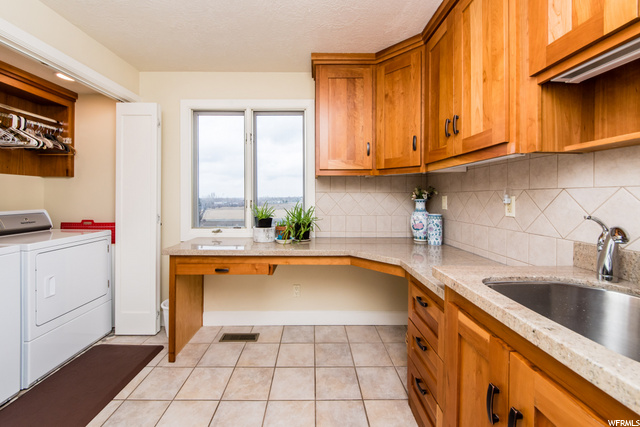 Main floor laundry room with beautiful views