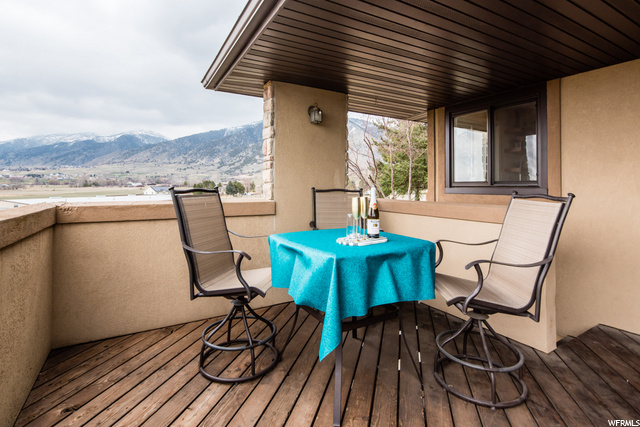 Deck off of dining area and kitchen