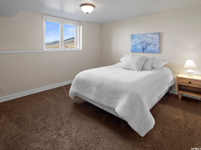 Lower level bedroom with views