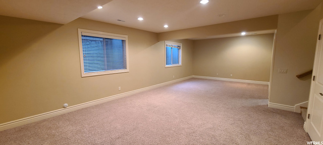 very large open area w 9 ft ceilings