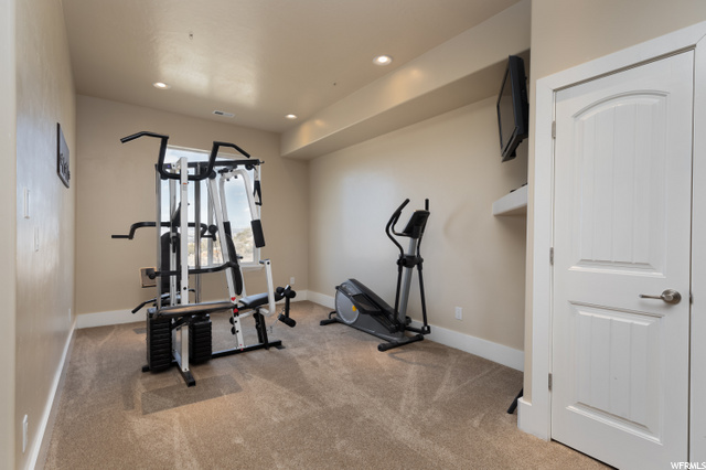 Exercise equipment area/game room